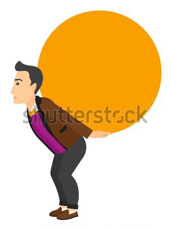 Man carrying big ball. Stock photo © RAStudio