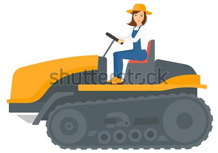 Agriculteur conduite tracteur vecteur design illustration Photo stock © RAStudio