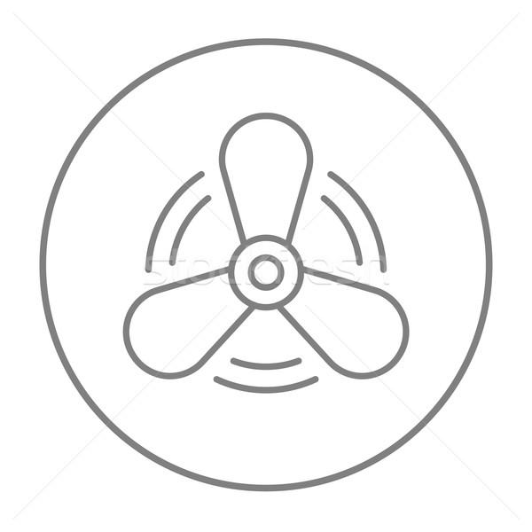 ボート プロペラ 行 アイコン ウェブ 携帯 ストックフォト © RAStudio