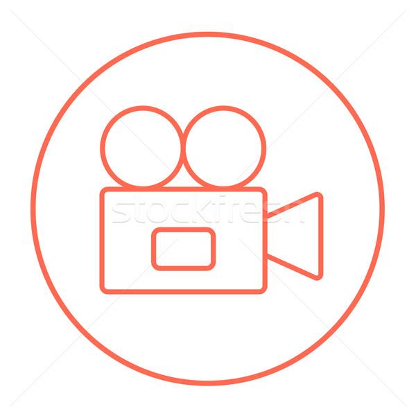 Caméra vidéo ligne icône web mobiles infographie Photo stock © RAStudio