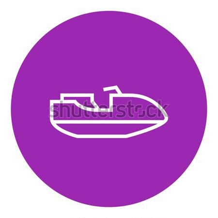 Jet Roller line Symbol Ecken Web Stock foto © RAStudio