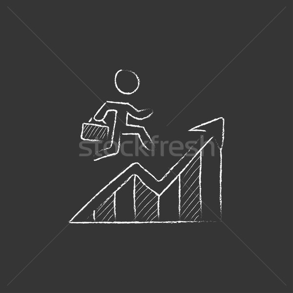 Financial recovery. Drawn in chalk icon. Stock photo © RAStudio