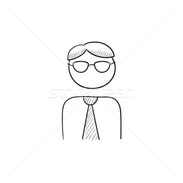 Empresário esboço ícone vetor isolado Foto stock © RAStudio