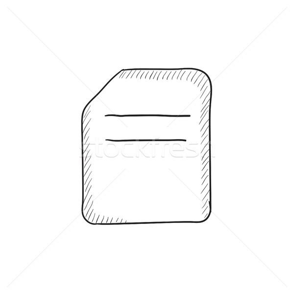 Document sketch icon. Stock photo © RAStudio