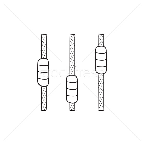 Sound mixer console sketch icon. Stock photo © RAStudio