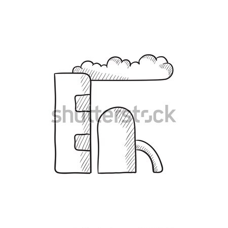 Finomító növény rajz ikon vektor izolált Stock fotó © RAStudio