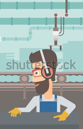 男 作業 金属 キーを押します マシン アジア ストックフォト © RAStudio