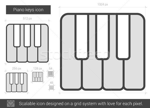 Piano keys line icon. Stock photo © RAStudio