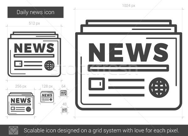 Diariamente notícia linha ícone vetor isolado Foto stock © RAStudio