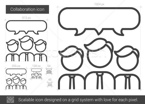 Collaboration line icon. Stock photo © RAStudio