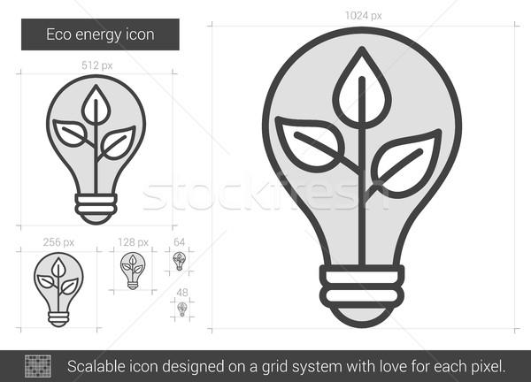Eco energy line icon. Stock photo © RAStudio