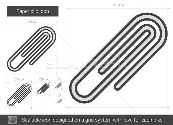 Paper clip line icon. Stock photo © RAStudio
