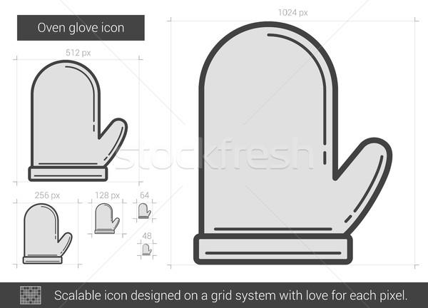 Oven glove line icon. Stock photo © RAStudio