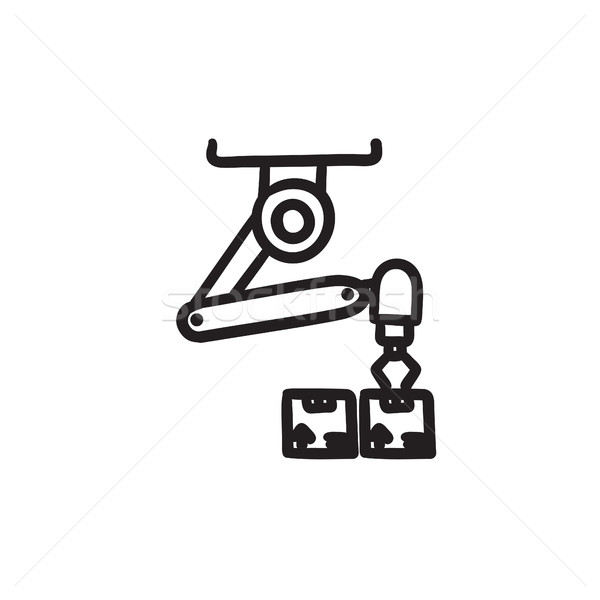 Robotic packaging sketch icon. Stock photo © RAStudio