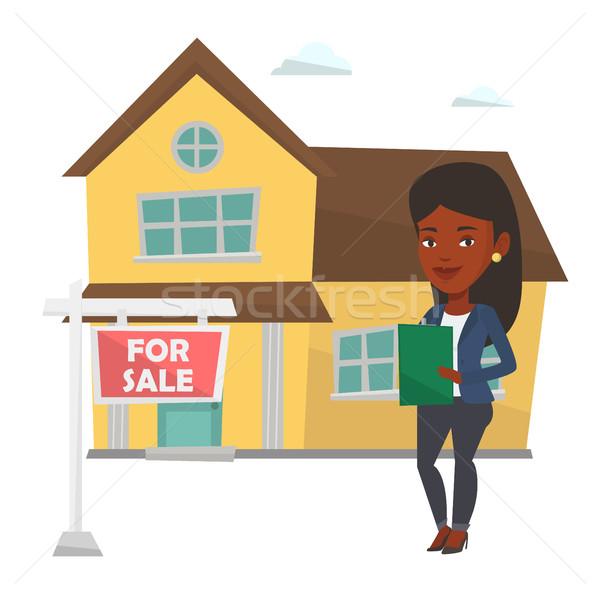 Assinatura casa comprar contrato venda Foto stock © RAStudio