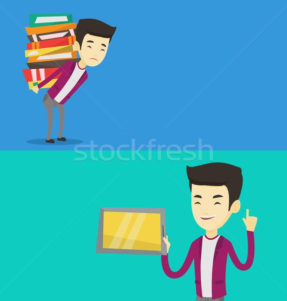 Dos educativo banners espacio texto vector Foto stock © RAStudio