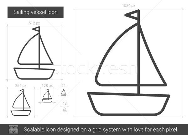 Sailing vessel line icon. Stock photo © RAStudio