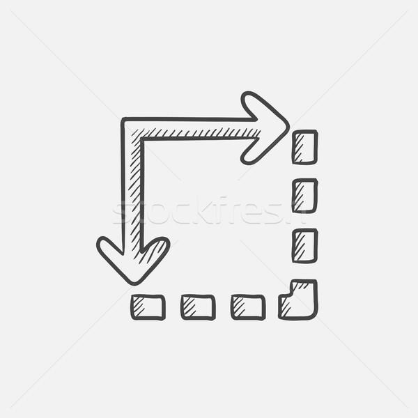 Içerik kroki ikon web hareketli infographics Stok fotoğraf © RAStudio