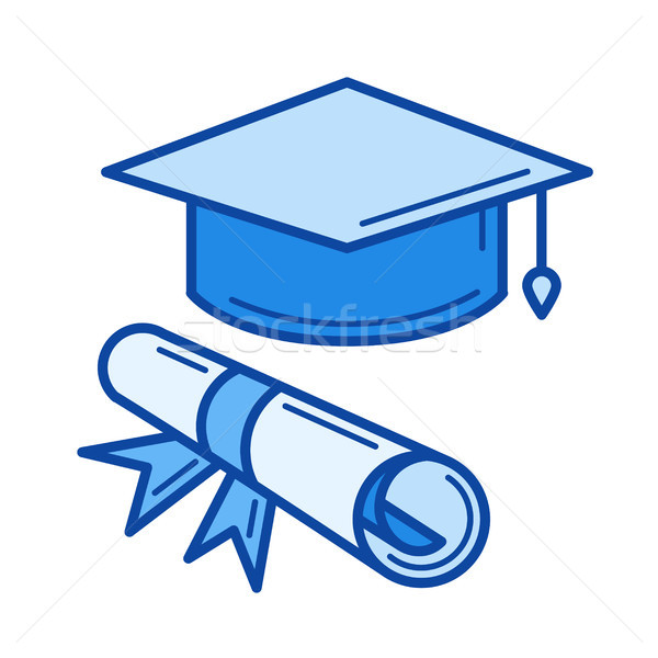 Certificate degree line icon. Stock photo © RAStudio