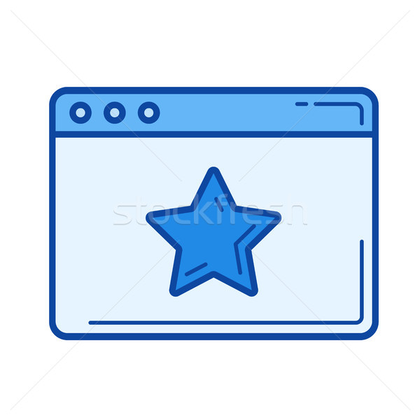 Starred page line icon. Stock photo © RAStudio