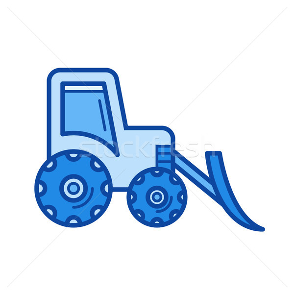 Front loader line icon. Stock photo © RAStudio