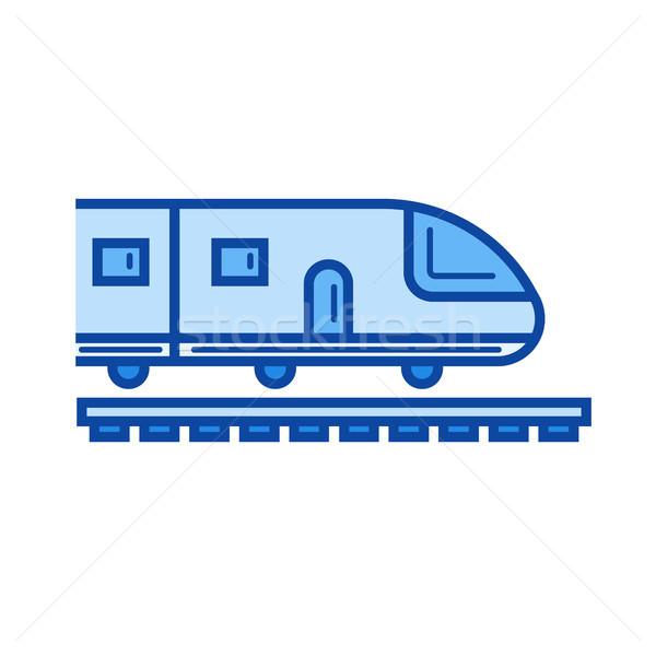 à grande vitesse train ligne icône vecteur isolé Photo stock © RAStudio