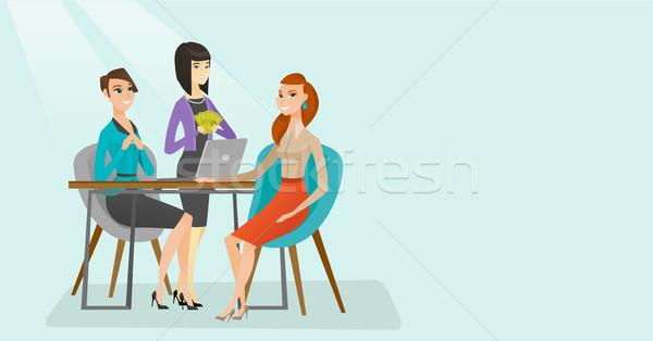 Pracy wnioskodawca wywiad pozycja młodych Zdjęcia stock © RAStudio