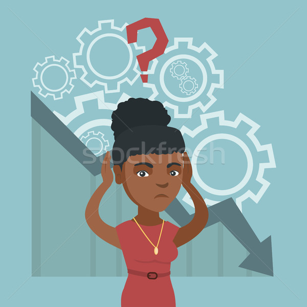Jonge hoofd afrikaanse vrouw grafiek Stockfoto © RAStudio