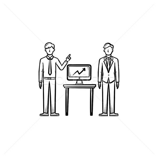 Strategy consulting hand drawn sketch icon. Stock photo © RAStudio