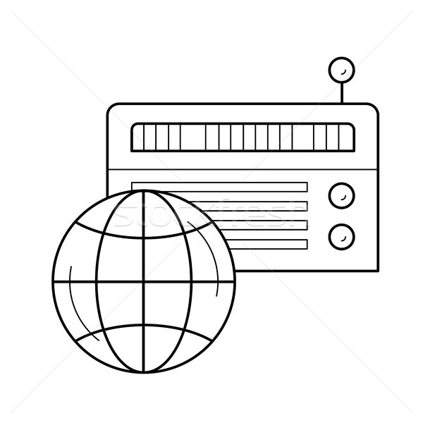 Radio line icon. Stock photo © RAStudio