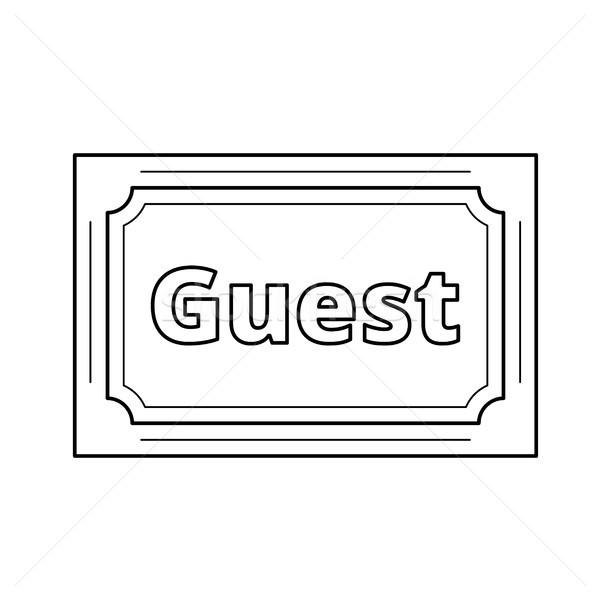 Invitado vector línea icono aislado Foto stock © RAStudio