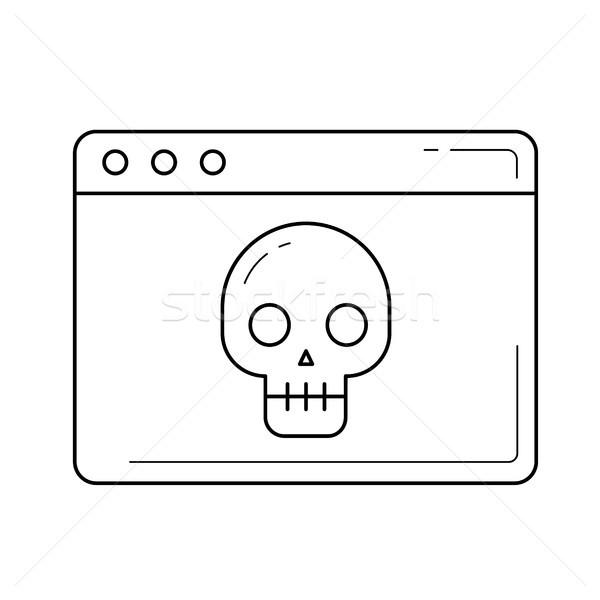 Virus line icon. Stock photo © RAStudio