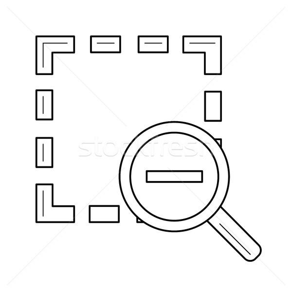 Zoom ki vonal ikon vektor izolált Stock fotó © RAStudio