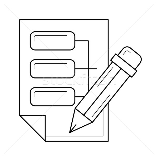Data system line icon. Stock photo © RAStudio