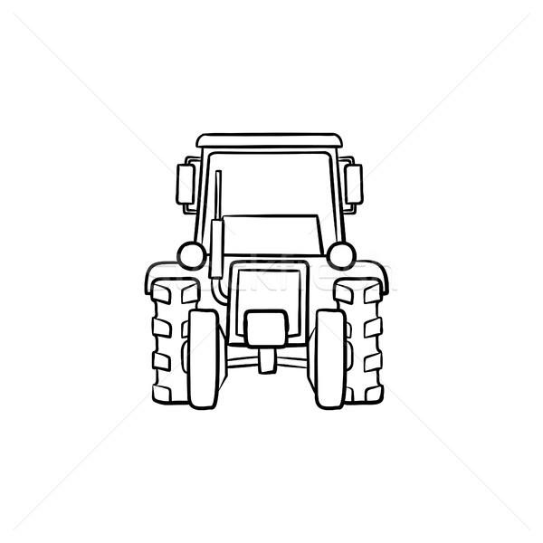 Tractor hand drawn sketch icon. Stock photo © RAStudio