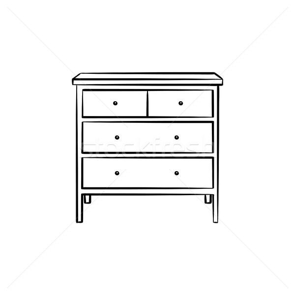 Chest of drawer hand drawn sketch icon.. Stock photo © RAStudio