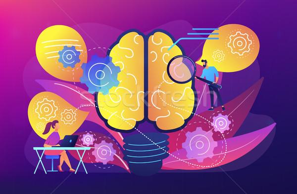 人間の脳 歯車 思考 ユーザー 考え 感想 ストックフォト © RAStudio