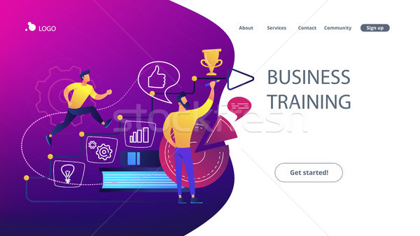 Business coaching concept vector illustration. Stock photo © RAStudio