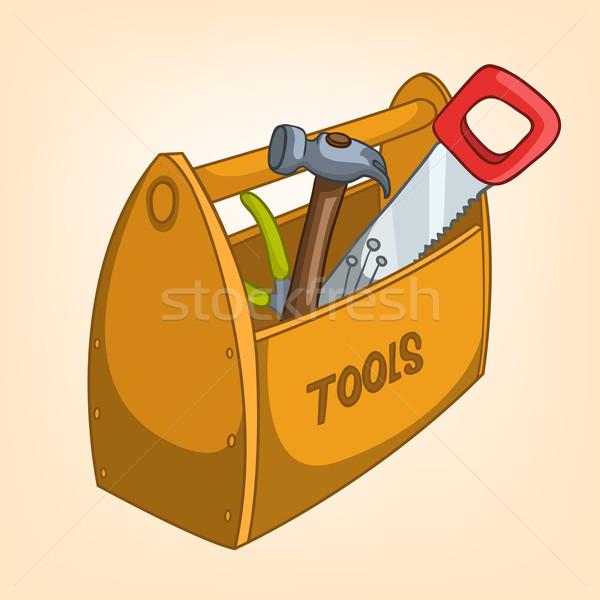 Karikatur home Werkzeugkasten isoliert Gradienten Vektor Stock foto © RAStudio