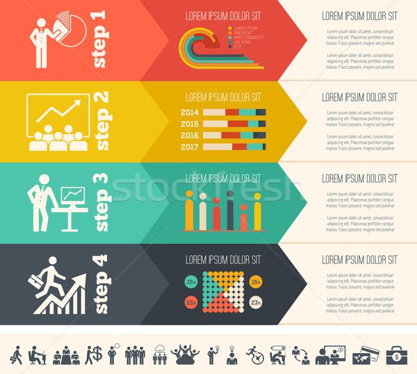 Social Media Infographic Template. Stock photo © RAStudio