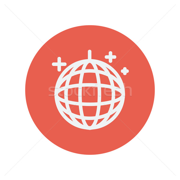 Disko topu ince hat ikon web hareketli Stok fotoğraf © RAStudio