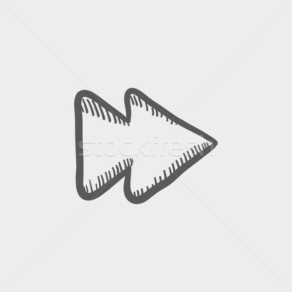 Fast forward or skip button sketch icon Stock photo © RAStudio