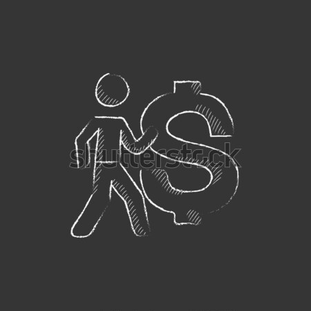 Business discussion icon drawn in chalk. Stock photo © RAStudio