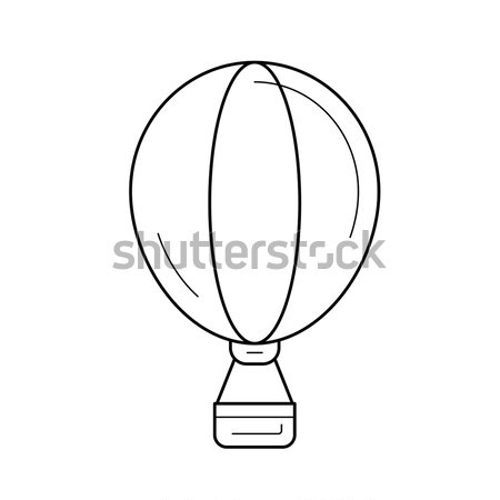 Hot air balloon icon drawn in chalk. Stock photo © RAStudio