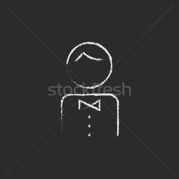 Cameriere icona gesso lavagna Foto d'archivio © RAStudio