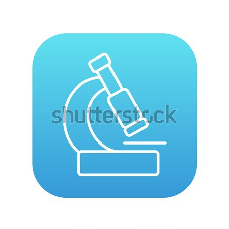 Microscope icon drawn in chalk. Stock photo © RAStudio