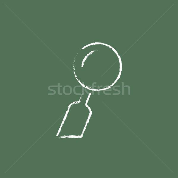 Dental mirror icon drawn in chalk. Stock photo © RAStudio