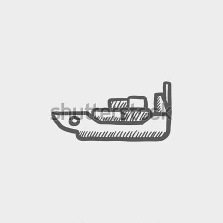 Jet icône craie dessinés à la main Photo stock © RAStudio