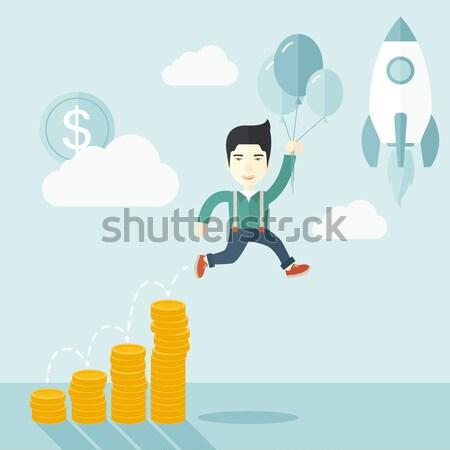 бизнеса успех черный бизнесмен Сток-фото © RAStudio