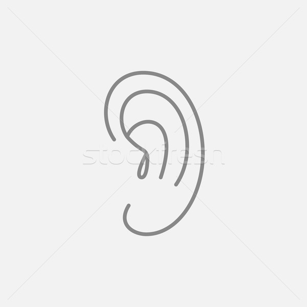 Human ear line icon. Stock photo © RAStudio